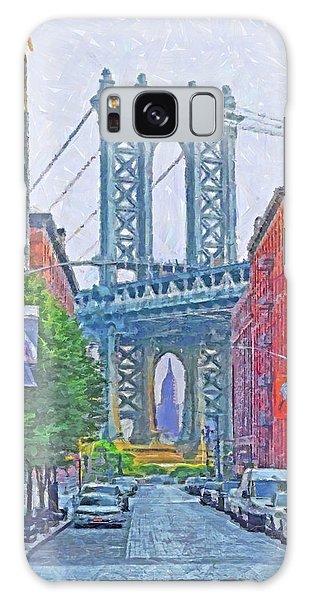 Galaxy Case featuring the digital art Dumbo -  Down Under The Manhattan Bridge Overpass by Digital Photographic Arts