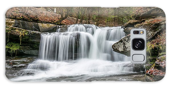 Dunloup Creek Falls Galaxy Case