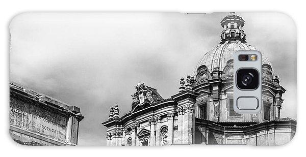Duomo Of Santi Luca E Martina And Arch Of Septimius Severus  Galaxy Case