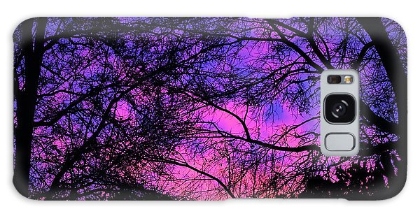 Dusk And Nature Intertwine Galaxy Case