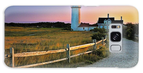 Dusk At Cape Cod Lighthouse Galaxy Case