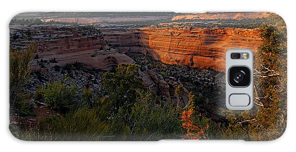 Dusk At Colorado National Monument Galaxy Case