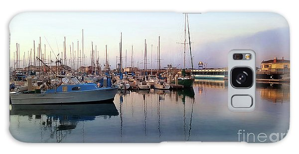 Dusk At Old Fisherman's Wharf Galaxy Case by Gina Savage