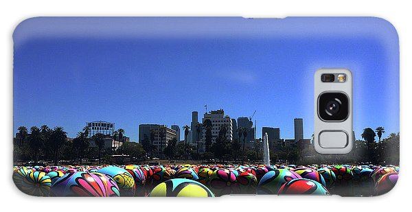 Galaxy Case featuring the photograph Dusk Finds The Spheres Of Macarthur Park by Lorraine Devon Wilke