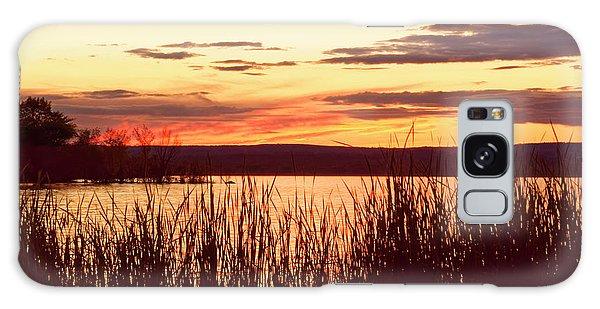 dusk on Lake Superior Galaxy Case