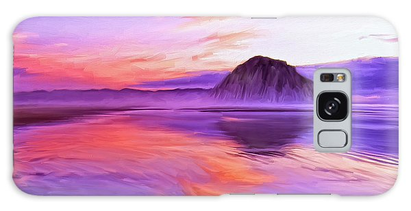 Dusk On The Morro Strand Galaxy Case