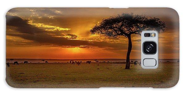 Dusk Over  The Serengeti Galaxy Case