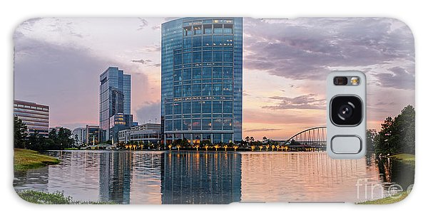Dusk Panorama Of The Woodlands Waterway And Anadarko Petroleum Towers - The Woodlands Texas Galaxy Case
