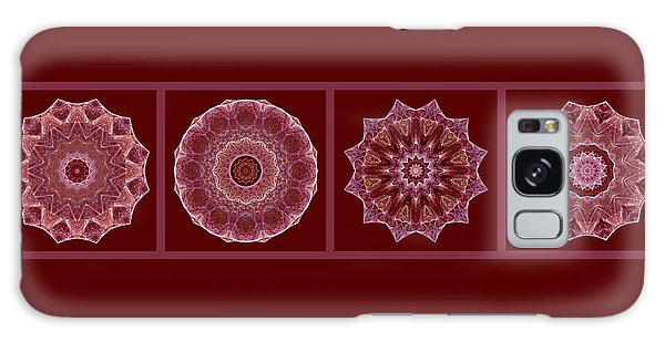 Dusty Rose Mandala Fractal Panel Galaxy Case