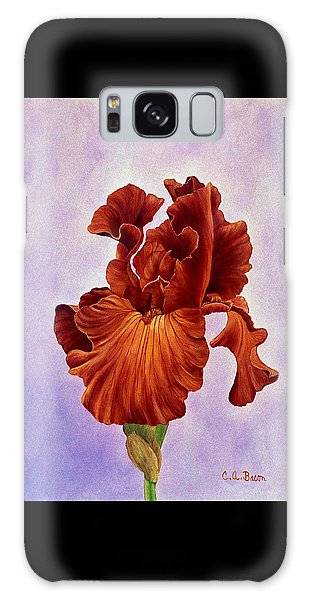 Dutch Chocolate Bearded Iris Galaxy Case