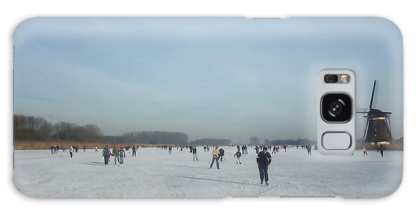 Dutch Winter Landscape Galaxy Case by Jan Daniels