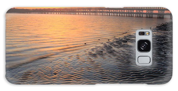Ocean Sunset Galaxy S8 Case - Duxbury Beach Powder Point Bridge Sunset by John Burk