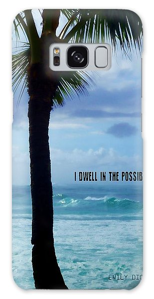 Dwell In Paradise Quote Galaxy Case