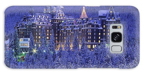 D.wiggett Banff Springs Hotel In Winter Galaxy Case