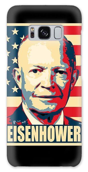 Any Galaxy Case - Dwight D. Eisenhower Amercian Propaganda Poster Art by Filip Hellman