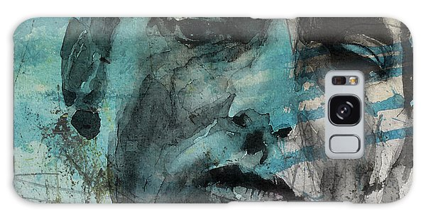 Dylan - Retro  Maggies Farm No More Galaxy Case by Paul Lovering