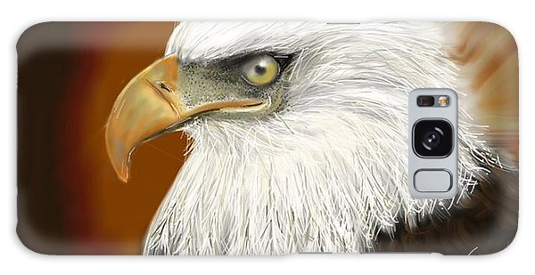 Galaxy Case featuring the digital art Eagle American by Darren Cannell