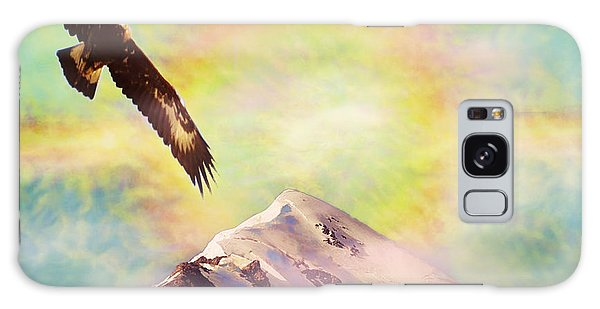 Eagle And Fire Rainbow Over Mt Tetnuldi Caucasus II Galaxy Case