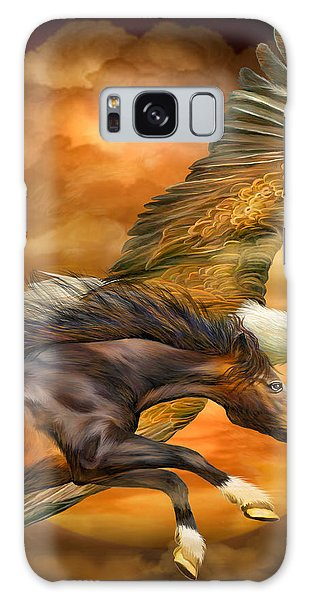 The Eagles Galaxy Case - Eagle And Horse - Spirits Of The Wind by Carol Cavalaris