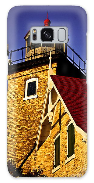 Eagle Bluff Lighthouse Of Door County Galaxy Case