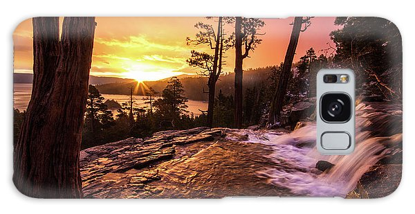 Galaxy Case featuring the photograph Eagle Falls Sunrise by Wesley Aston