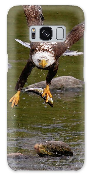 Galaxy Case featuring the photograph Eagle Fying With Fish by Debbie Stahre