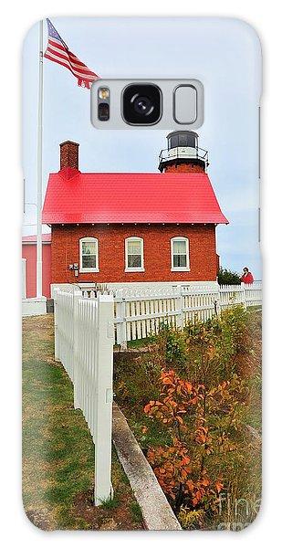 Eagle Harbor Lighthouse Galaxy Case