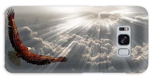 Eagle In Flight Above The Clouds Galaxy Case by Bruce Rolff
