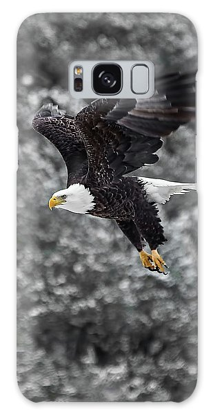 Galaxy Case featuring the photograph Eagle In Flight by Britt Runyon