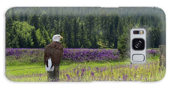 Eagle On Fence Post Galaxy Case