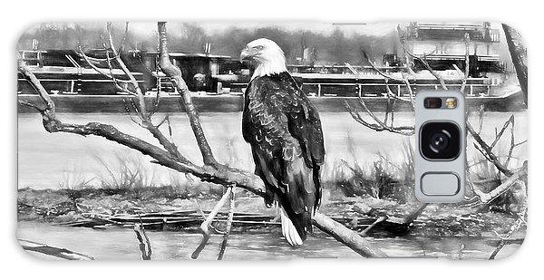 Eagle On The Illinois River Galaxy Case by John Freidenberg