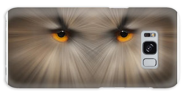 Eagle Owl Eye Triptych Galaxy Case