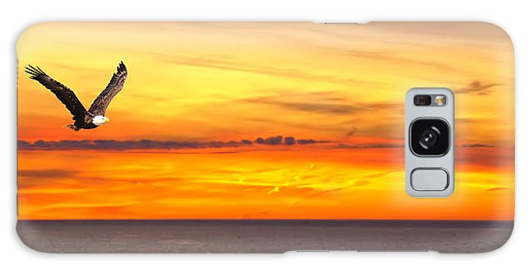 Eagle Panorama Sunset Galaxy Case by Randall Branham