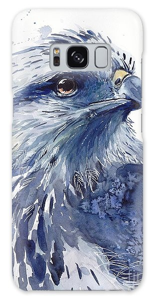 The Eagles Galaxy Case - Eagle Watercolor by Suzann Sines
