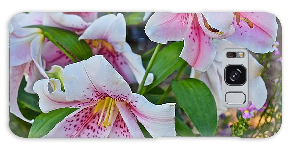 Early August Tumble Of Lilies Galaxy Case