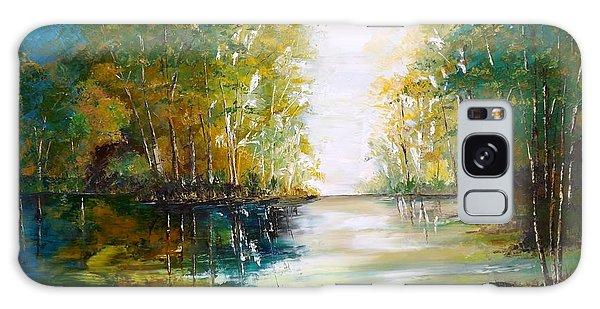 Early Autumn Lake Galaxy Case