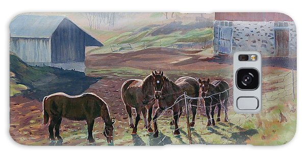 Galaxy Case featuring the painting Early December At The Farm by David Gilmore