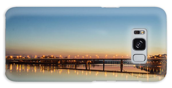 Early Evening Bridge At Sunset Galaxy Case
