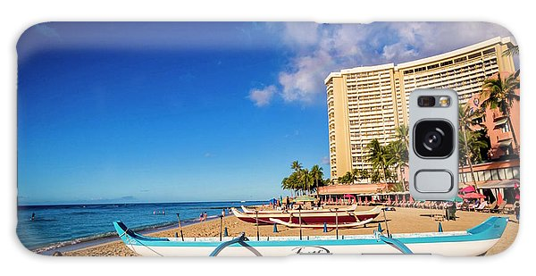 Early Morning At Outrigger Beach,hawaii Galaxy Case