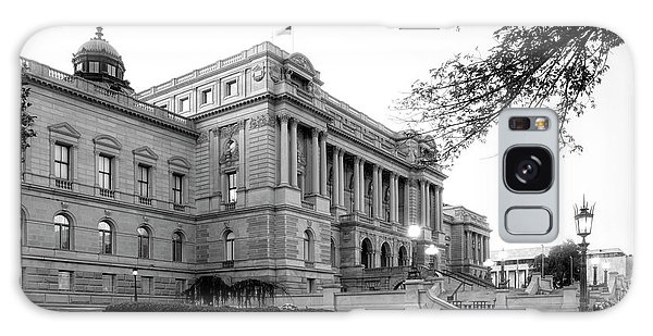Early Morning At The Library Of Congress In Black And White Galaxy Case