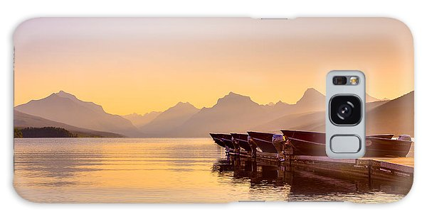 Early Morning On Lake Mcdonald Galaxy Case