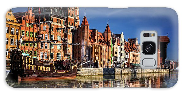 Early Morning On The Motlawa River In Gdansk Poland Galaxy Case