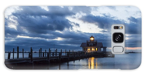 Early Morning Over Roanoke Marshes Lighthouse Galaxy Case