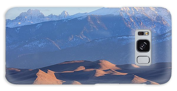 Early Morning Sand Dunes And Snow Covered Peaks Galaxy Case by James BO Insogna