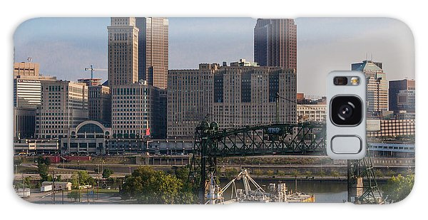 Early Morning Transport On The Cuyahoga River Galaxy Case