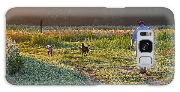Early Morning Walk With Friends Galaxy Case