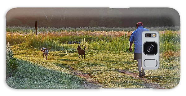 Galaxy Case featuring the photograph Early Morning Walk With Friends by Ken Stampfer