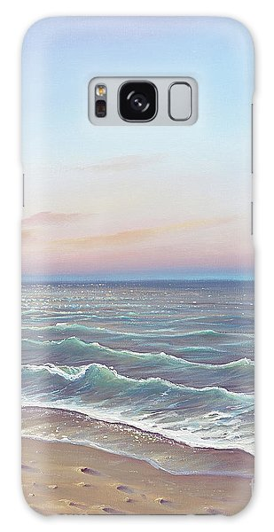 Early Morning Waves Galaxy Case