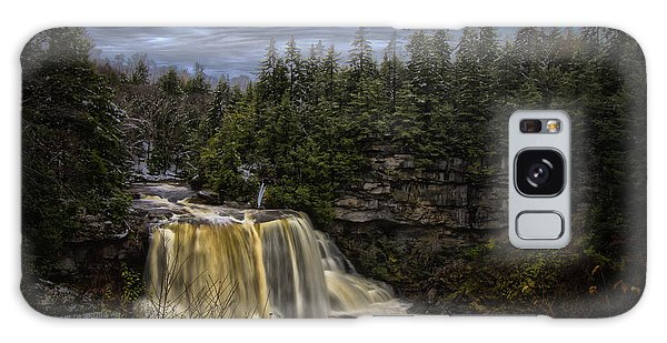 Early Snow At Black Water Falls Galaxy Case