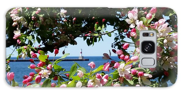 Early Spring Blossoms At The Waterfront Galaxy Case by Wendy Shoults
